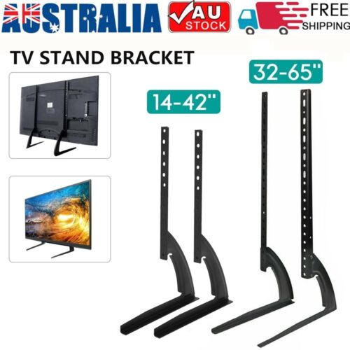 "Universal Table Top TV Stand Bracket Leg Mount LED LCD Flat TV Screen 14-65"" AU"