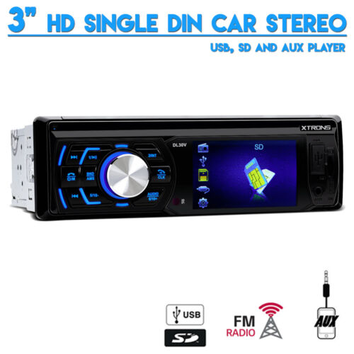"""3"""" HD 720p Screen Single Din USB SD Aux In Car Stereo With FM Radio Tuner"""