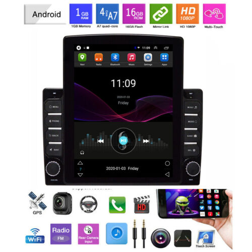 "10.1"" Android 8.1 Car Stereo Radio 1DIN HD Touch Screen 1+16GB GPS AM FM Wifi"