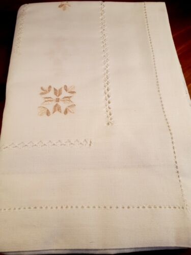 Rectangle 150*225cm WHITE Premium Polyester Embroidered T/Cloth