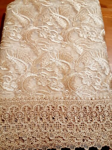 Rectangle 160*230cm Organza/Polyester Bronze  embroidered t/cloth