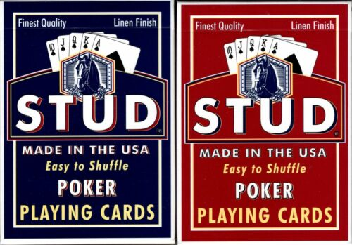 Stud Standard Index 2 Deck Set Playing Cards Poker Size USPCC
