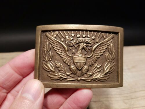 Antique Style Military Civil War Confederate CSA Belt Buckle Square SOLID Brass