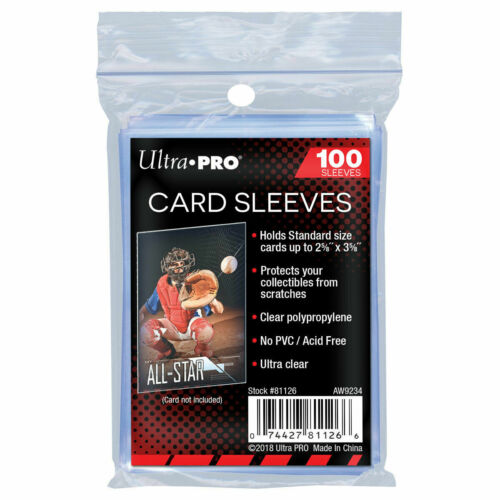 100 PACK - ULTRA-PRO CARD SLEEVES FOR STANDARD SIZE SPORTS AND TRADING CARDSOther Supplies - 183443
