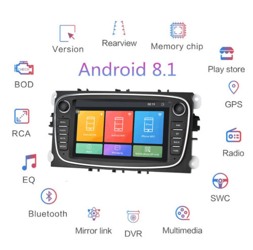 For Ford Focus S-Max Mondeo Android 8.1 Car Stereo Radio 7Inch Screen 1+16GB GPS