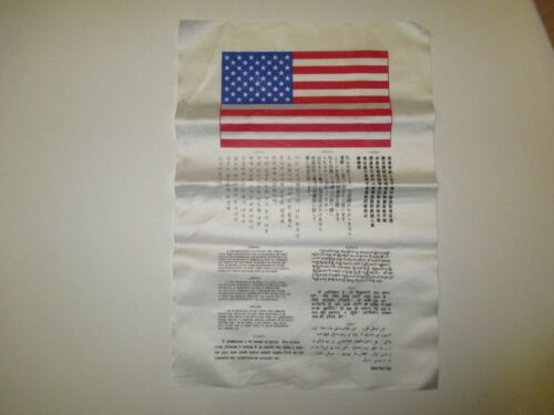 E3389 US Military Korean War Blood Chit 10 Languages R2CReproductions - 156441