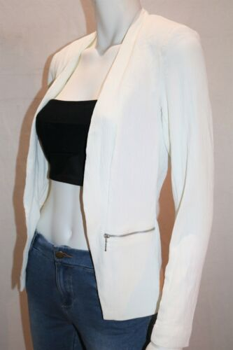 TARGET Brand White Textured Long Sleeve Blazer Jacket Size 6 BNWT #JA11