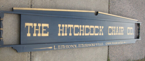 HITCHCOCK CHAIR Co L HITCHCOCK CONN FACTORY DEALER SIGN RARE & HARD TO FIND