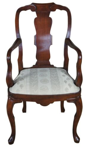 Antique Georgian Style Mahogany Arm Chair Queen Anne Dining Accent