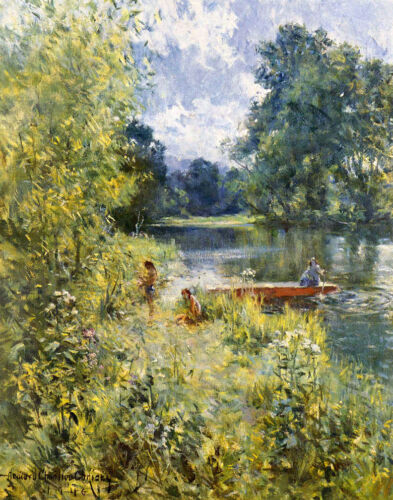 Howard Chandler Christy On The Riverbank Print 11 x 14  #3700