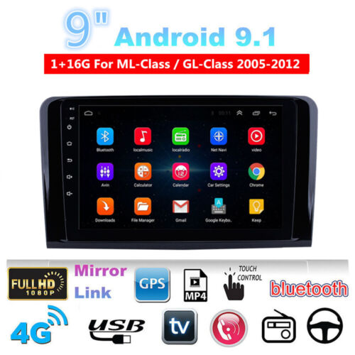 For Mercedes Benz M/GL Class W164 X164 Car Stereo Radio 9'' Android 9.1 + Canbus