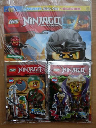 LEGO NINJAGO Magazine 12 2017 i BUCKO & CHEN 2 x Limited Edition Mini Figure