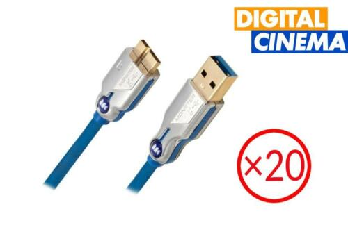 Monster USB 3.0 Type B to Micro Cable - 2 Meters | Set of 20
