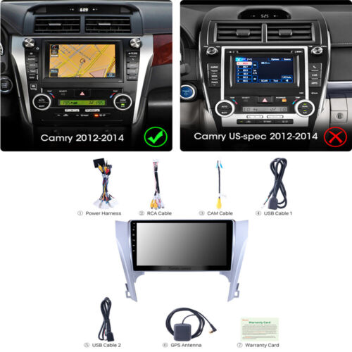 9 inch Android 9.1 Car Stereo Radio 2+32GB GPS For Toyota Camry 8 50 55 2012-14