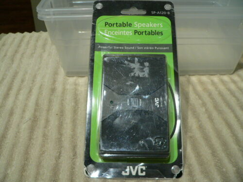 JVC SP-A120-B Portable Speakers for iPod Black - New in original Package