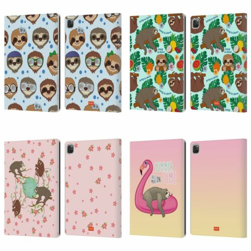 OFFICIAL emoji® SLOTH LEATHER BOOK WALLET CASE COVER FOR APPLE iPAD