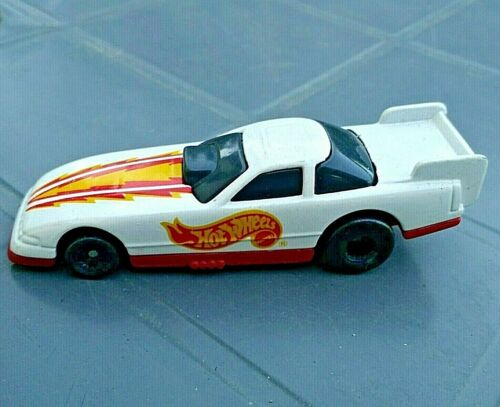 VOITURE HOT WHEELS MATTEL 1993 M 12 DRAG RACER BLANC MADE IN THAILAND MC02