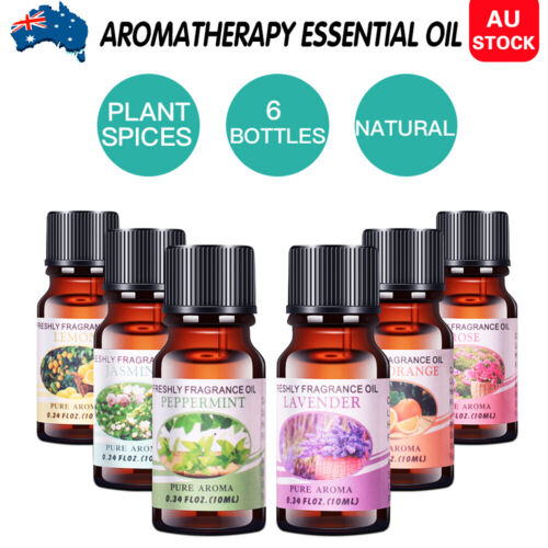6x10ml Essential Oils set 100% Pure& Natural Aromatherapy Diffuser Essential Oil