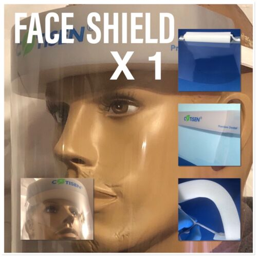 Full Face Covering Shield Visor Clear Glass Face Protection . 1 Pcs