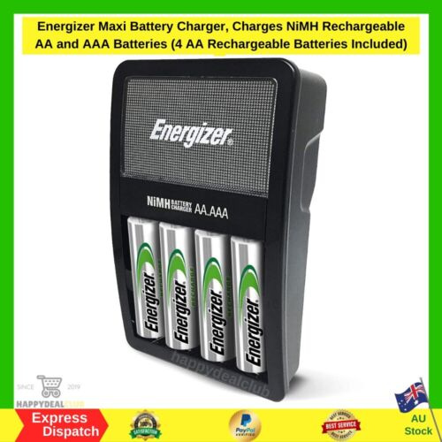 Energizer Maxi Battery Charger, Charges NiMH Rechargeable AA and AAA Batteries