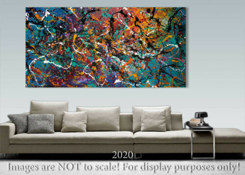 Abstract Original Modern Painting Art Wall decor HOME Decor Pollock style 676