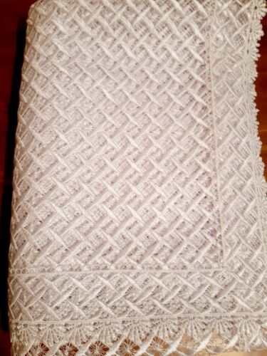 """160*240cm Premium Polyester """"Heavy-Knitted White""""  T/Cloth"""