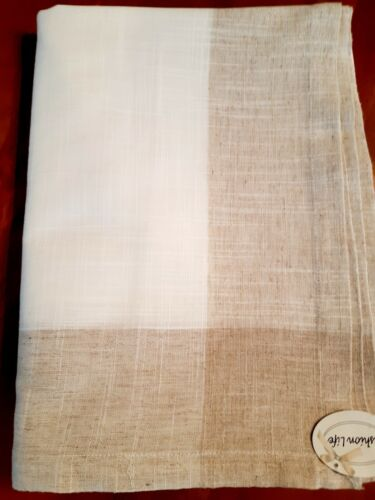 """180*300cm Rectangle Linen/Look """"Modern-Linen/Taupe"""" Polyester T/Cloth"""