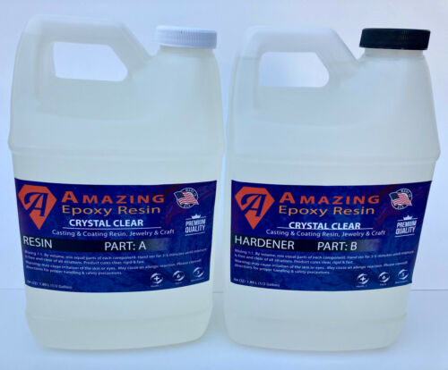 Crystal Clear Epoxy Resin Bar & Table Top, Crafts,coating,casting,  1 Gallon Kit