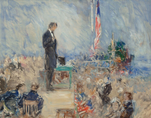 Howard Chandler Christy Ab Lincoln At Gettysburg Canvas Print 16 x 20 #4805