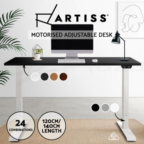 Artiss Standing Desk Height Adjustable Motorised Electric Sit Stand Table Riser <br/> ✔Roskos I ✔Stepless Height Adjustment ✔24 Options