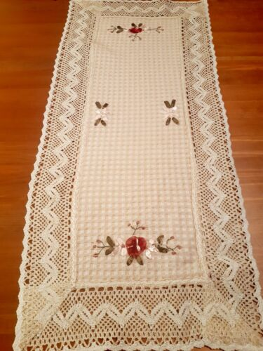 (SPECIAL Set Of 2) Rectangle 35*70cm Ribbon-Embroidered Polyester T/Runners
