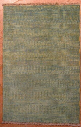 2x3 Modern Agra ABC Collection Vegetable Dye Handmade-knotted Wool Rug 585842