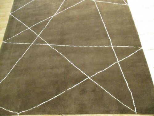 6x8 Modern ABC Collection Vegetable Dye Handmade-knotted Wool Rug 583367