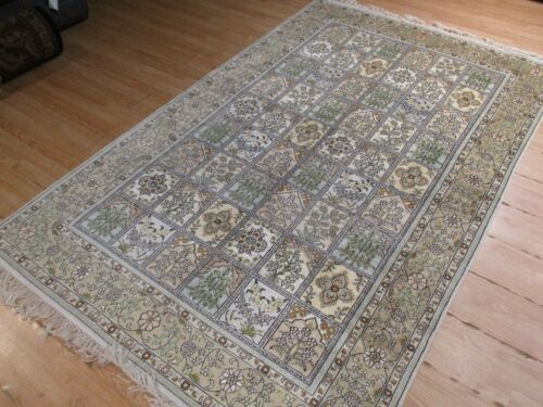 5x8 GORGEOUS 100% SILK SUPER FINE SOFT INTRICATE HANDMADE-KNOTTED RUG 583310
