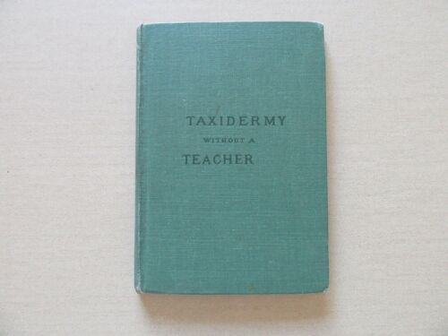 Taxidermy Without a Teacher by Walter P. Manton - Lothrop, Lee & Shepard, 1882
