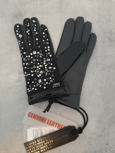 Guanti Gloves Donna Miss Sixty S art. Xf9064 genuine leather woman black