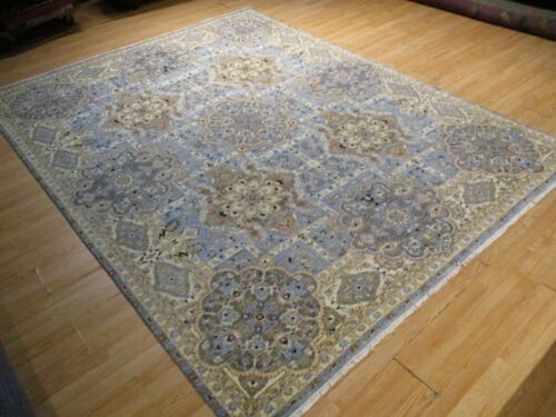 8x10 GORGEOUS MUSEUM DESIGN VEGETABLE DYE HANDMADE-KNOTTED WOOL RUG 585486