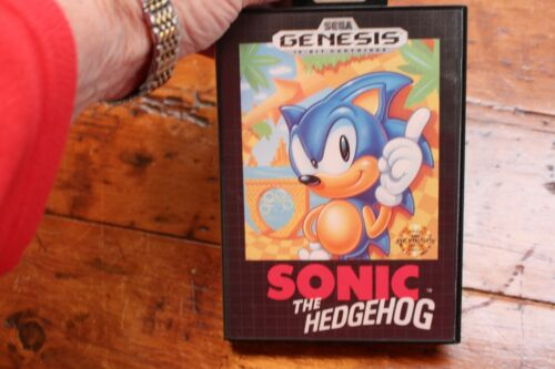 Vintage Sega Genesis Game Sonic the Hedgehog 1991