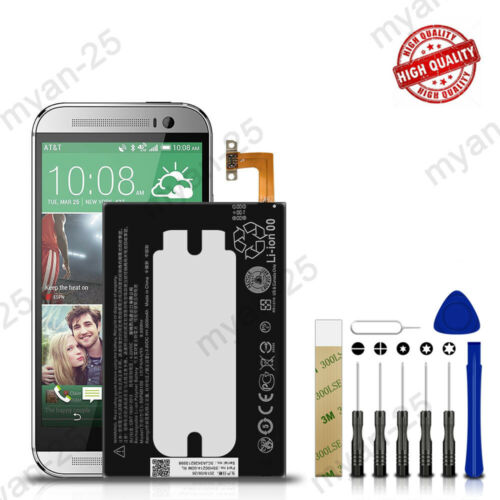 For Verizon HTC One M8 HTC6995L Replacement Battery B0P6B100 35H00214-00M Tools