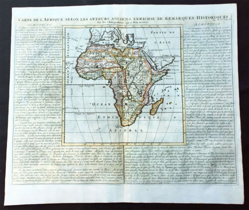 1719 Chatelain Large Original Antique Map of Africa - Beautiful