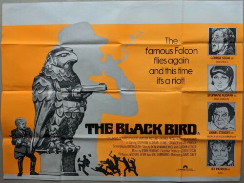 The Black Bird 1975 Original UK Quad Movie Film Poster