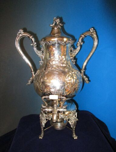 Antique Meriden Silverplate Samovar or Coffee Urn Chased & Grapes Like VINTAGE