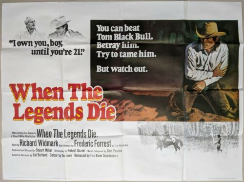 When The Legends Die 1972 Original UK Quad Movie Film Poster