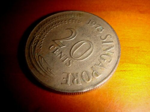 Error Coin, 1973 Singapore 20 Cents First Series, Clipped Planchet