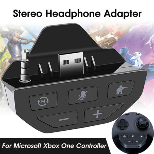 Headset Adapter Audio Mic Headphone Converter for Microsoft Xbox One Controllers
