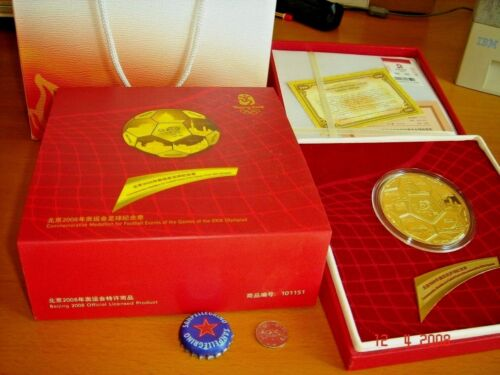 China, 2008 Medallion for Football Events XXIX Olympiad, Mint Condition