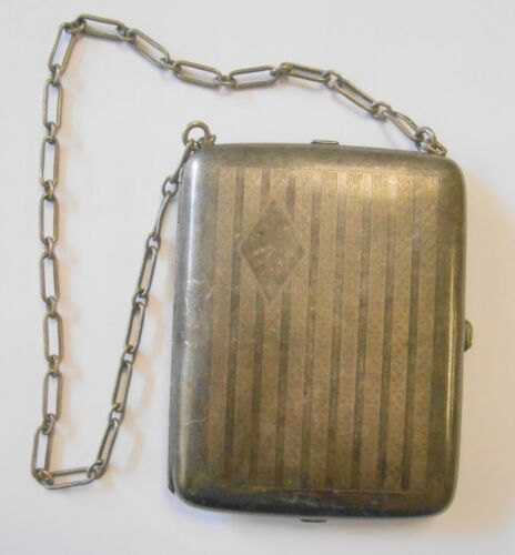 Vintage Sterling Silver Ladies Dance Coin Purse w/ 925 Chain Multi Compartment