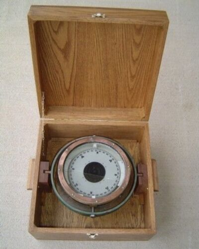 Cassens and Plath Magnetic Compass With Wooden Box