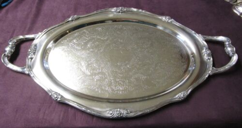 Antique GLENROSE 1908 Rogers Silverplate Handled Waiter Tray Art Nouveau Style