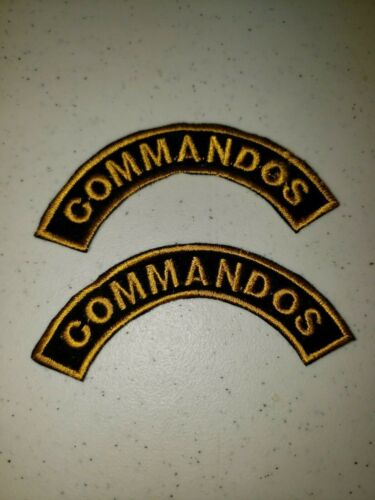 K1048 Indochina France French Army Commandos Shoulder Tabs L3BReproductions - 156472